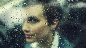 window glass person