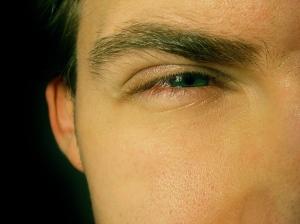 Squinted eyes